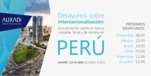 Desayunos sobre internacionalización en Perú