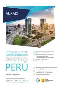 Desayunos sobre internacionalización: Actualización sobre el marco contable, fiscal y de nómina en Perú