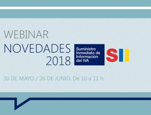 Webinar: Novedades en el Suministro Inmediato de Información (SII) para el 2018