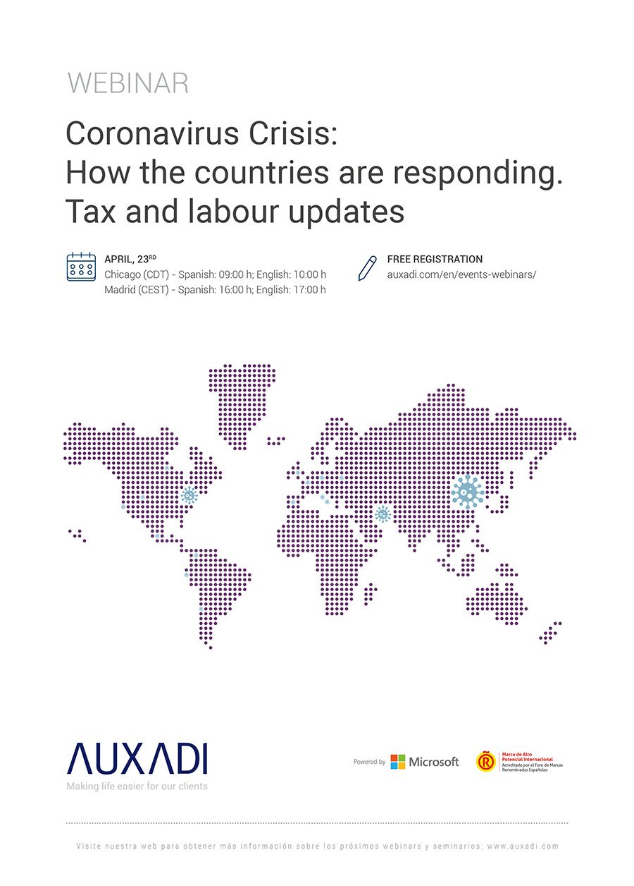 Coronavirus Crisis: How the countries are responding. Tax and labour updates