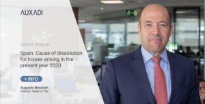 Spain. Cause of dissolution for losses arising in the present year 2020