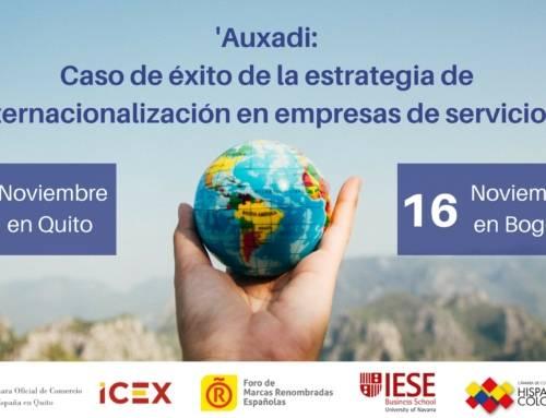 """Auxadi viaja a Latinoamérica para presentar el Estudio: """"Estrategias de entrada en mercados internacionales: El papel de la marca"""""""